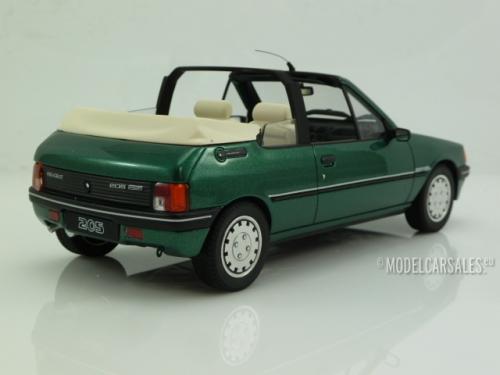 peugeot 205 cabriolet roland garros green metallic 1 18 ot733 otto mobile schaalmodel. Black Bedroom Furniture Sets. Home Design Ideas
